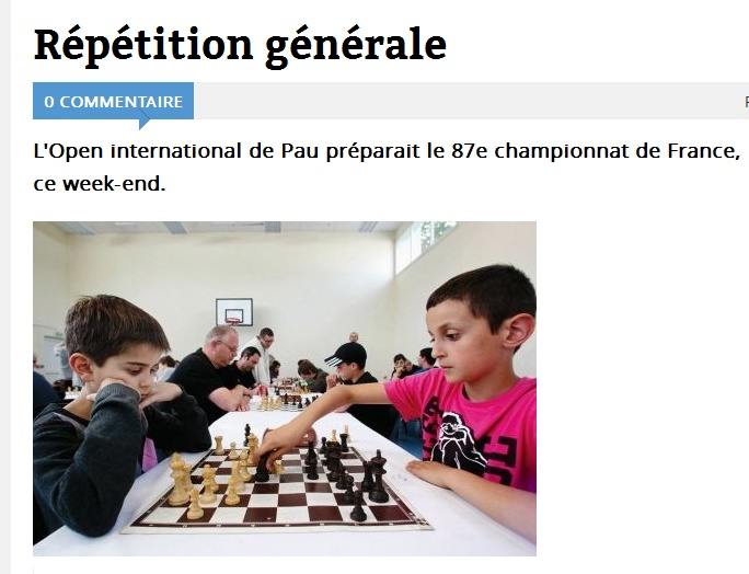 L'Open international de Pau préparait le 87e